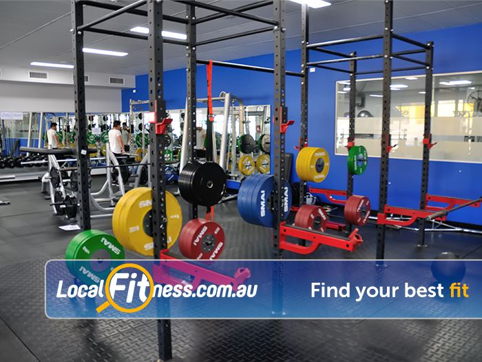 Trizone Fitness Gym Joondalup  | Heavy duty lifting racks for serious training.