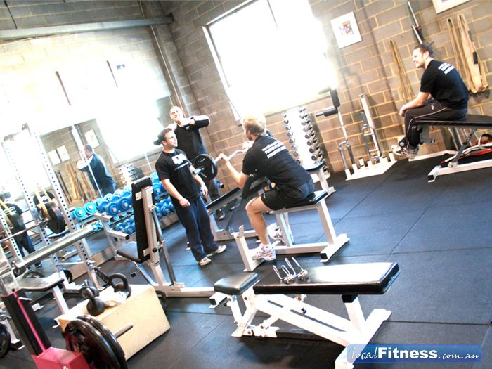 Fitness474 Richmond Multiple benches and a full range of powerlifting equipment.