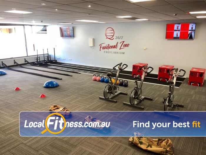 Equilibrium Health & Fitness Near Doncaster East Our Functional Zone is fully equipped with the latest functional training equipment
