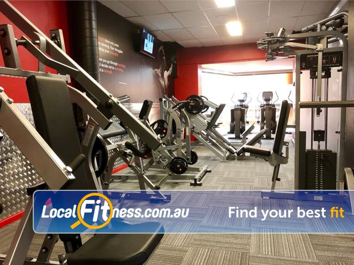 Equilibrium Health & Fitness Near Doncaster Our 24/7 Gym in Templestowe includes a wide range of hammer strength equipment