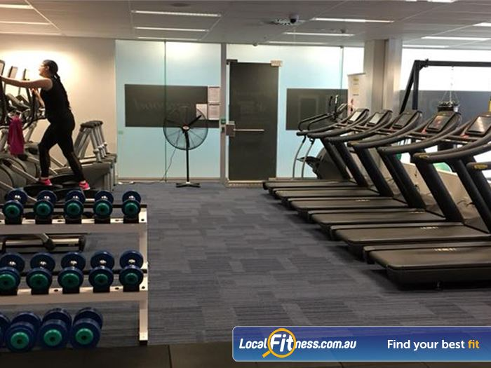 Fernwood Fitness Gym Deakin    Rows of state of the art cardio available