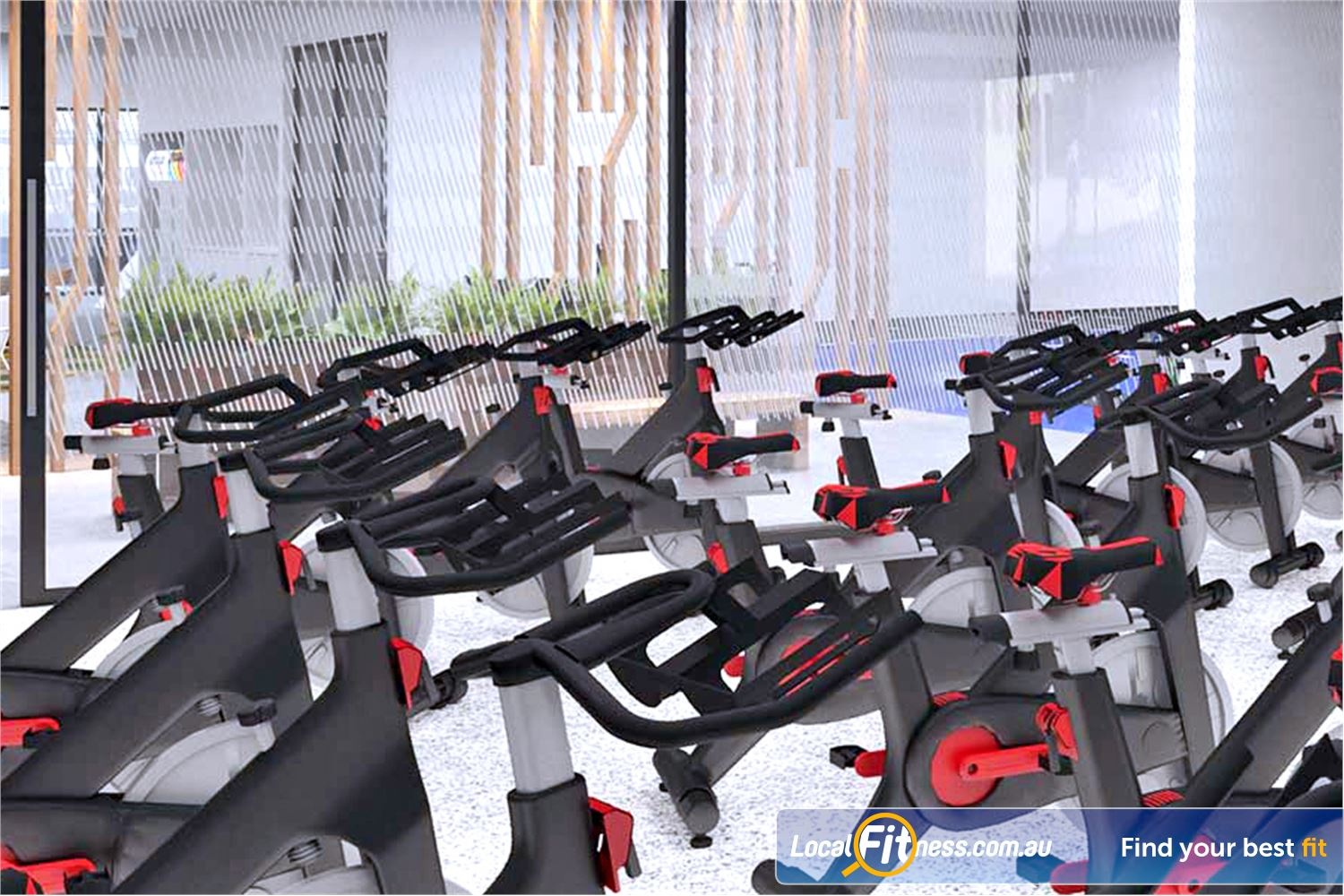 Goodlife Health Clubs Noarlunga Centre The state of the art Noarlunga spin cycle studio.