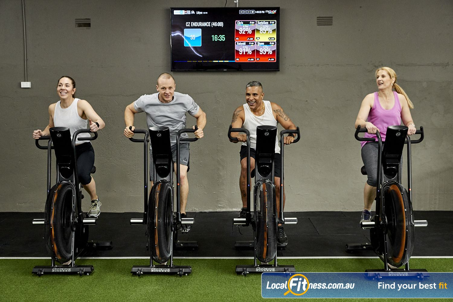 Coaching Zone Ferntree Gully Get a HIIT workout using our Assualt Air Bikes.