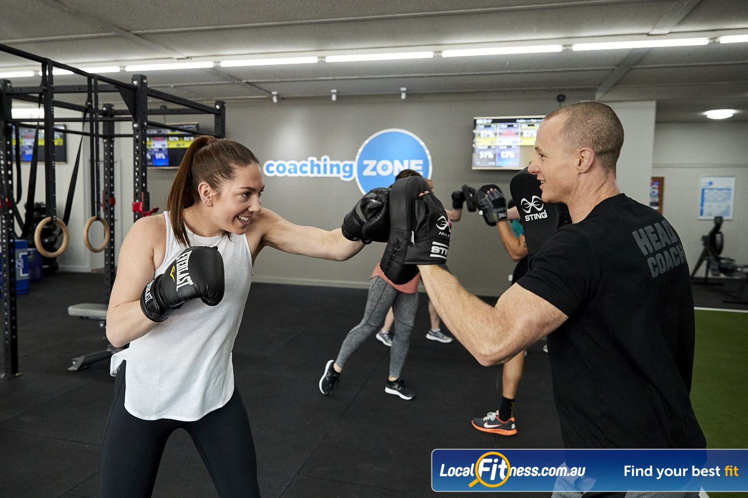 Coaching Zone Near Upper Ferntree Gully 8 different workouts inc. Boxing, HIIT, Strength, Adrenaline and more.