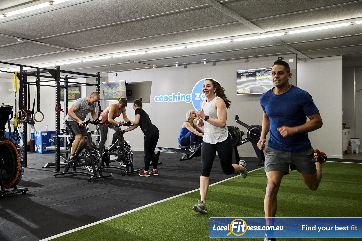 Coaching Zone Ferntree Gully Our Ferntree Gully gym includes a sled track, strength matrix, rowers, assault bikes and more.