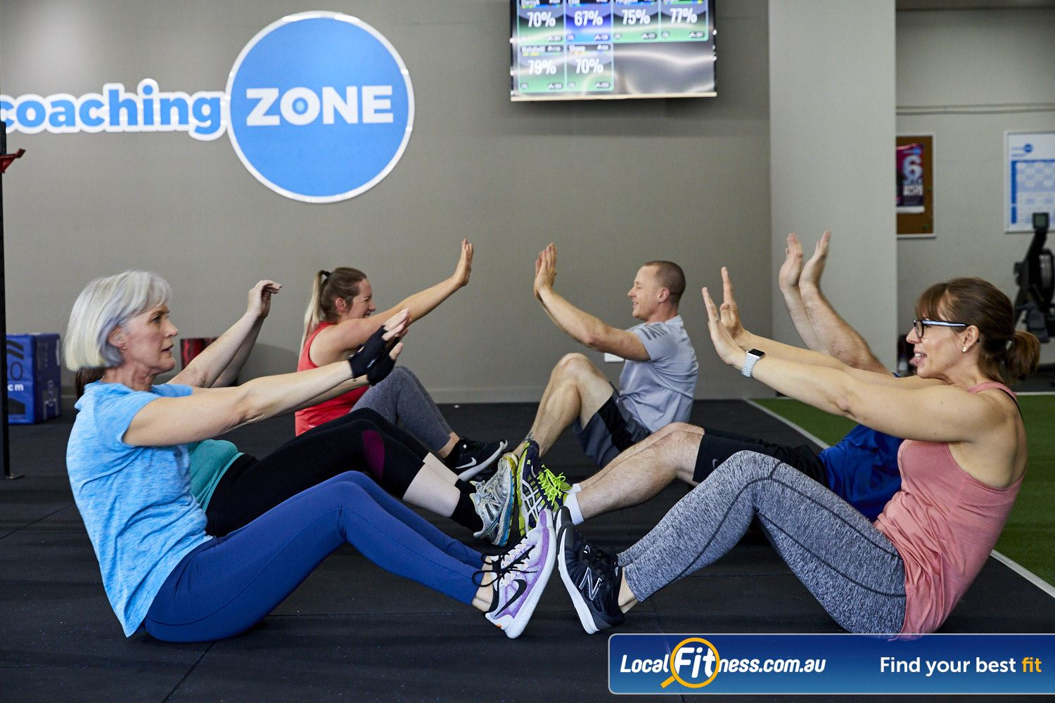 Coaching Zone Ferntree Gully Our classes on burning fat, core conditioning, team work and more.