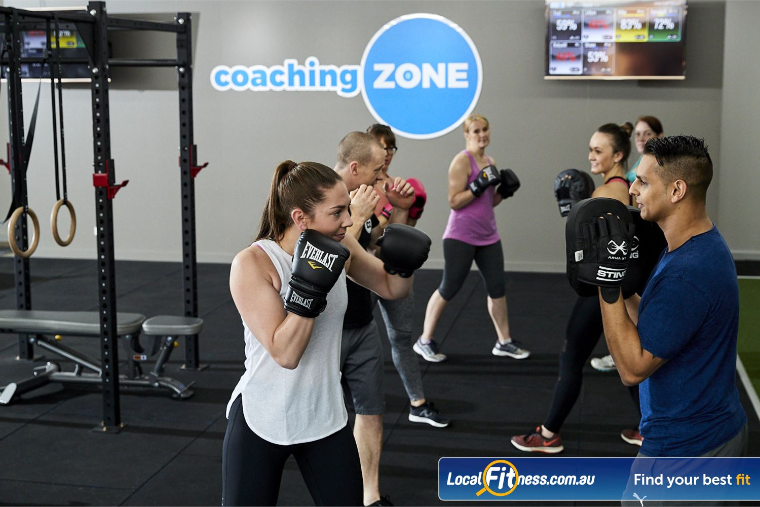 Coaching Zone Near Tremont Our Ferntree Gully boxing classes promising a whole lot of sweaty fun.