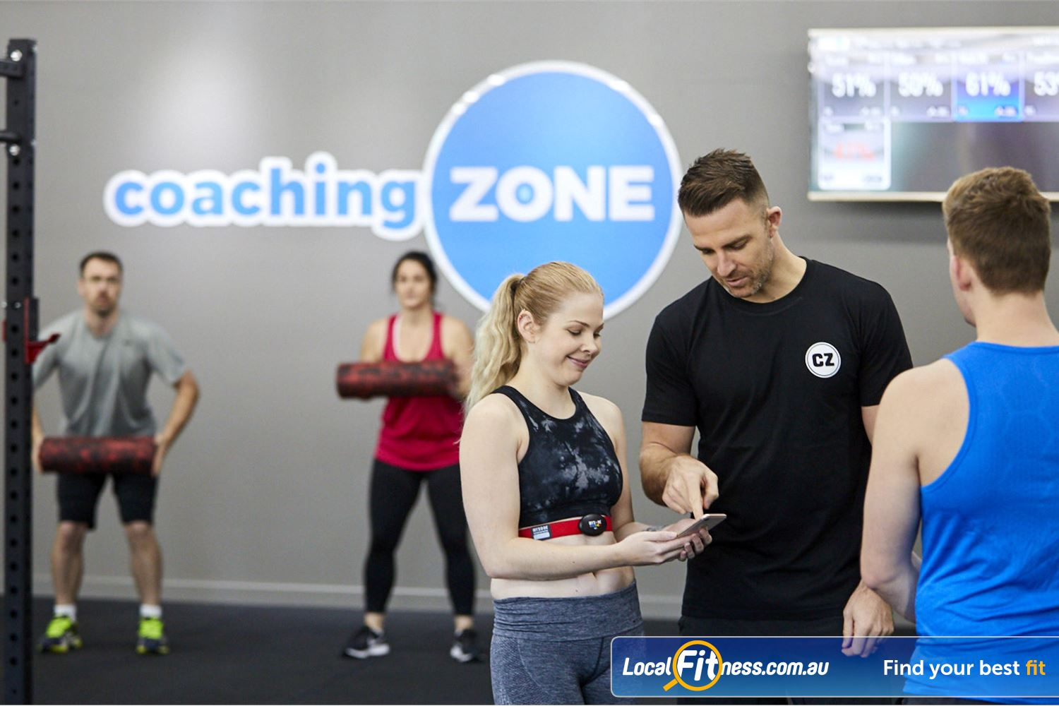 Coaching Zone Near Knoxfield High tech member experience combines high tech and functional training.