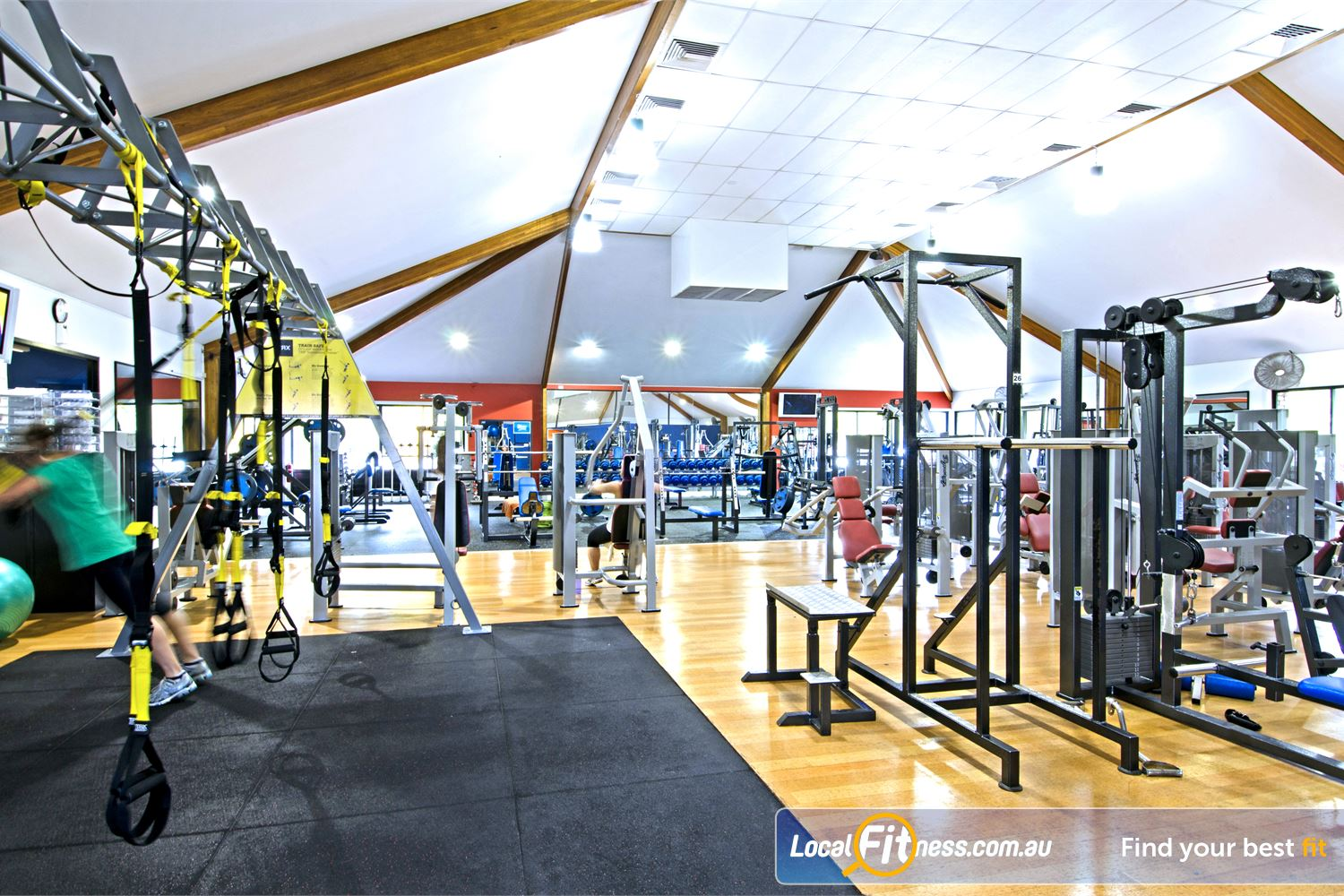 Goodlife Health Clubs Near Bridgeman Downs The Goodlife Carseldine gym includes a functional training area.