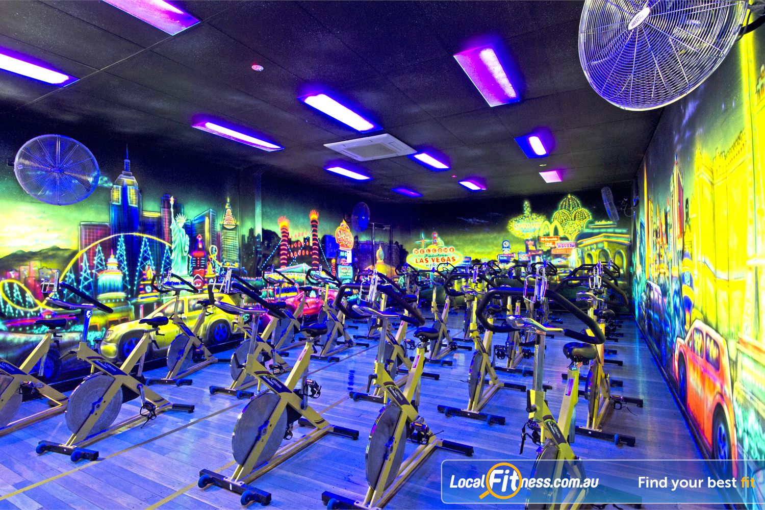 Goodlife Health Clubs Near Albany Creek Dedicated Carseldine spin cycle studio.