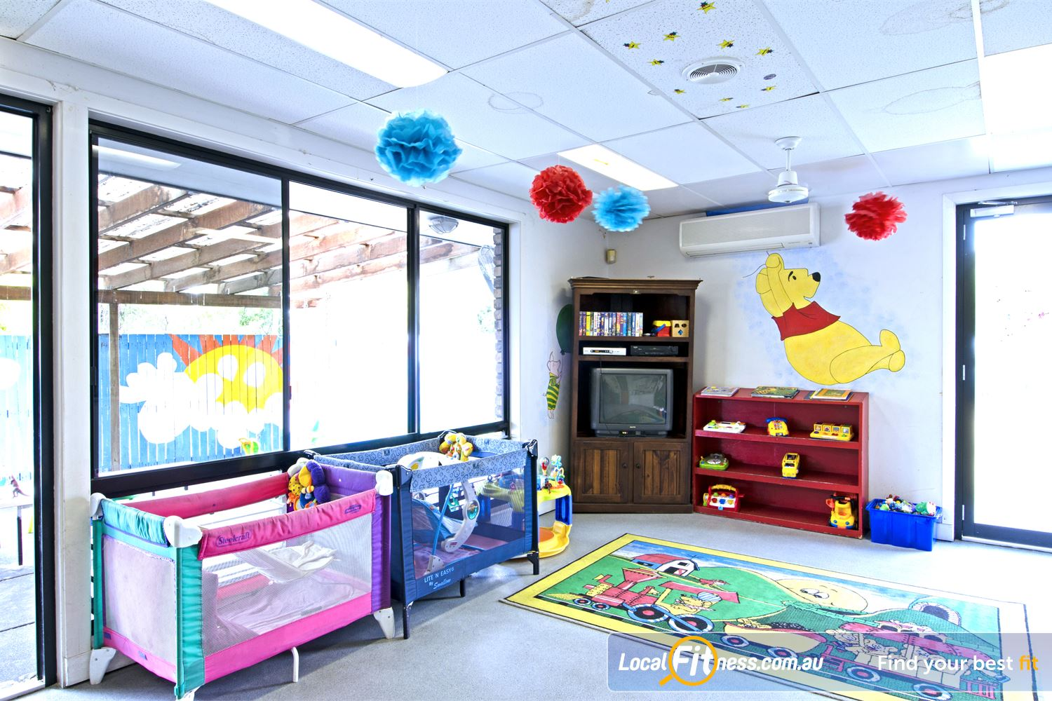 Goodlife Health Clubs Carseldine Goodlife Carseldine provides on-site child minding services.