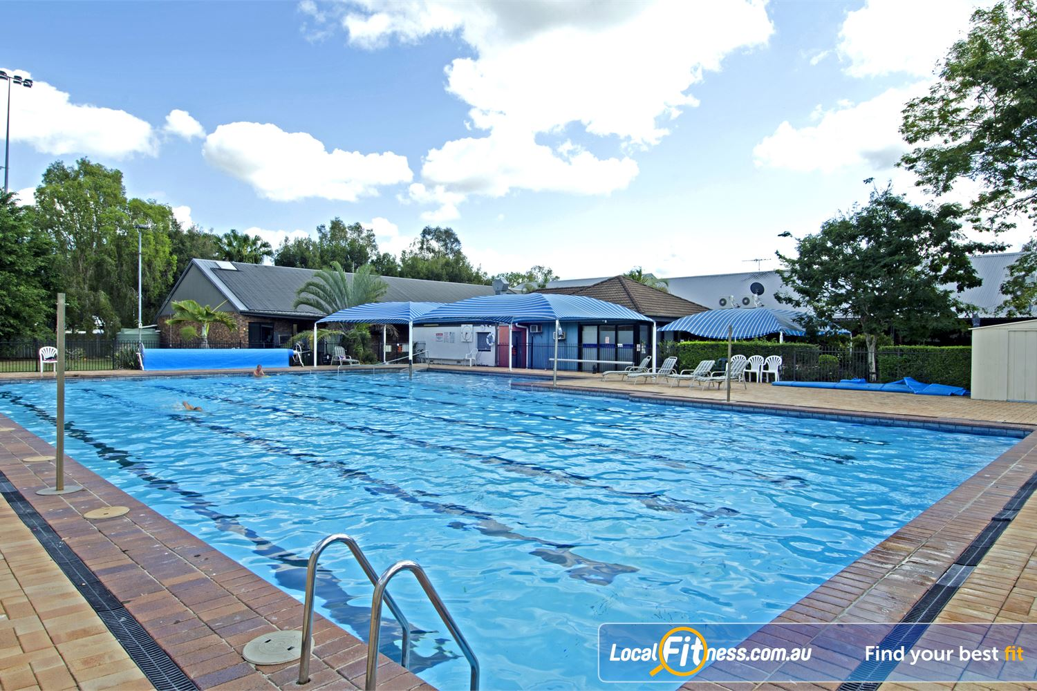 Goodlife Health Clubs Near Zillmere Our Carseldine outdoor swimming pool.