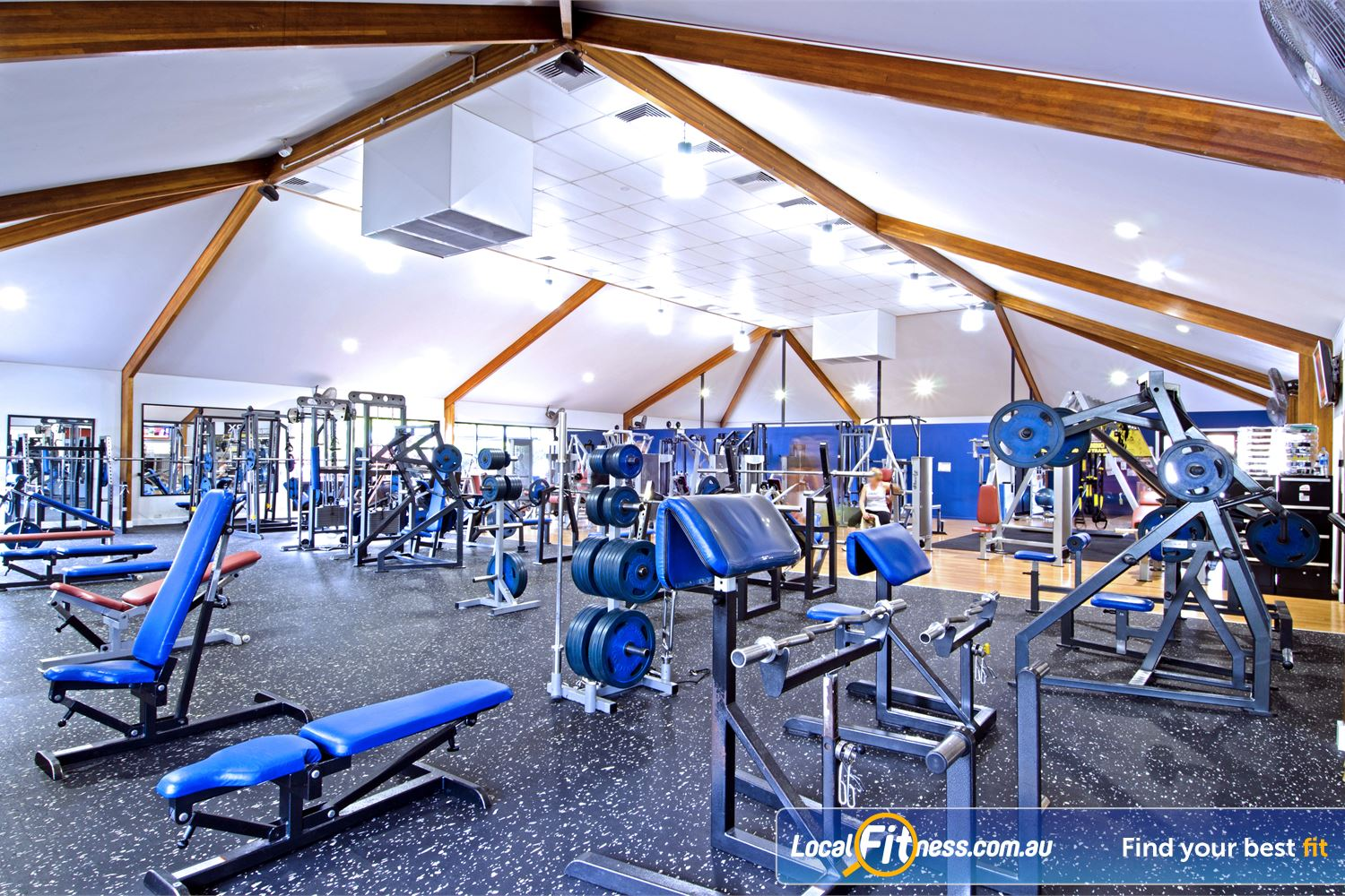 Goodlife Health Clubs Near Albany Creek Our spacious Carseldine gym features multiple benches and plate-loading equipment.