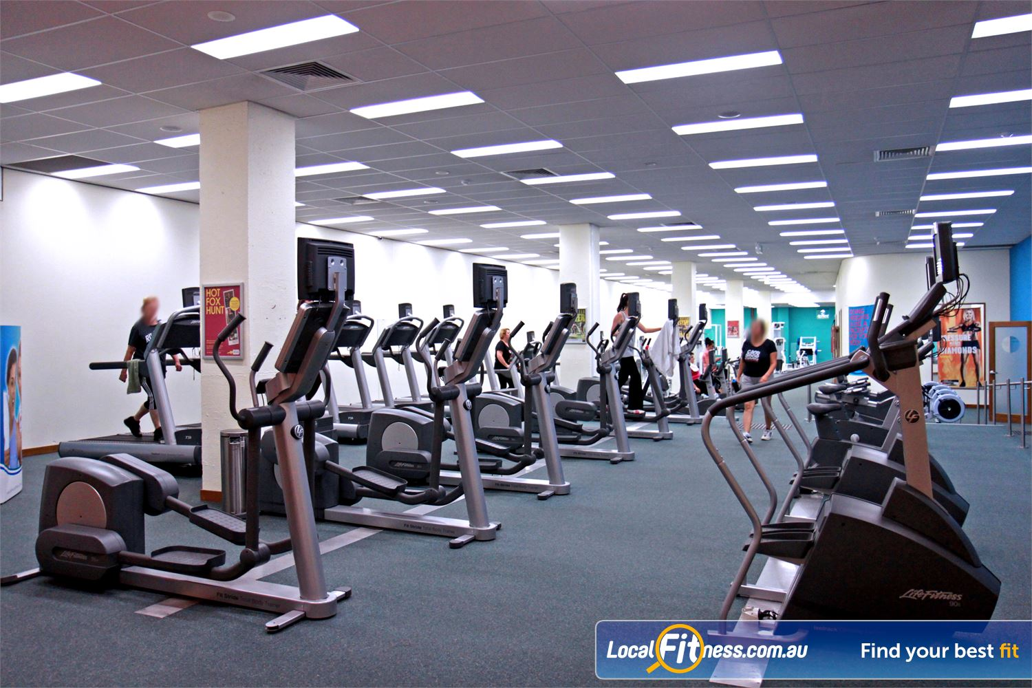Fernwood Fitness Campbelltown Luxury training with personal entertainment units on each machine.