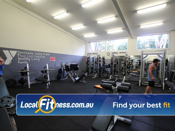 YMCA Gym Caringbah  | Enjoy a fully equipped free-weights area.