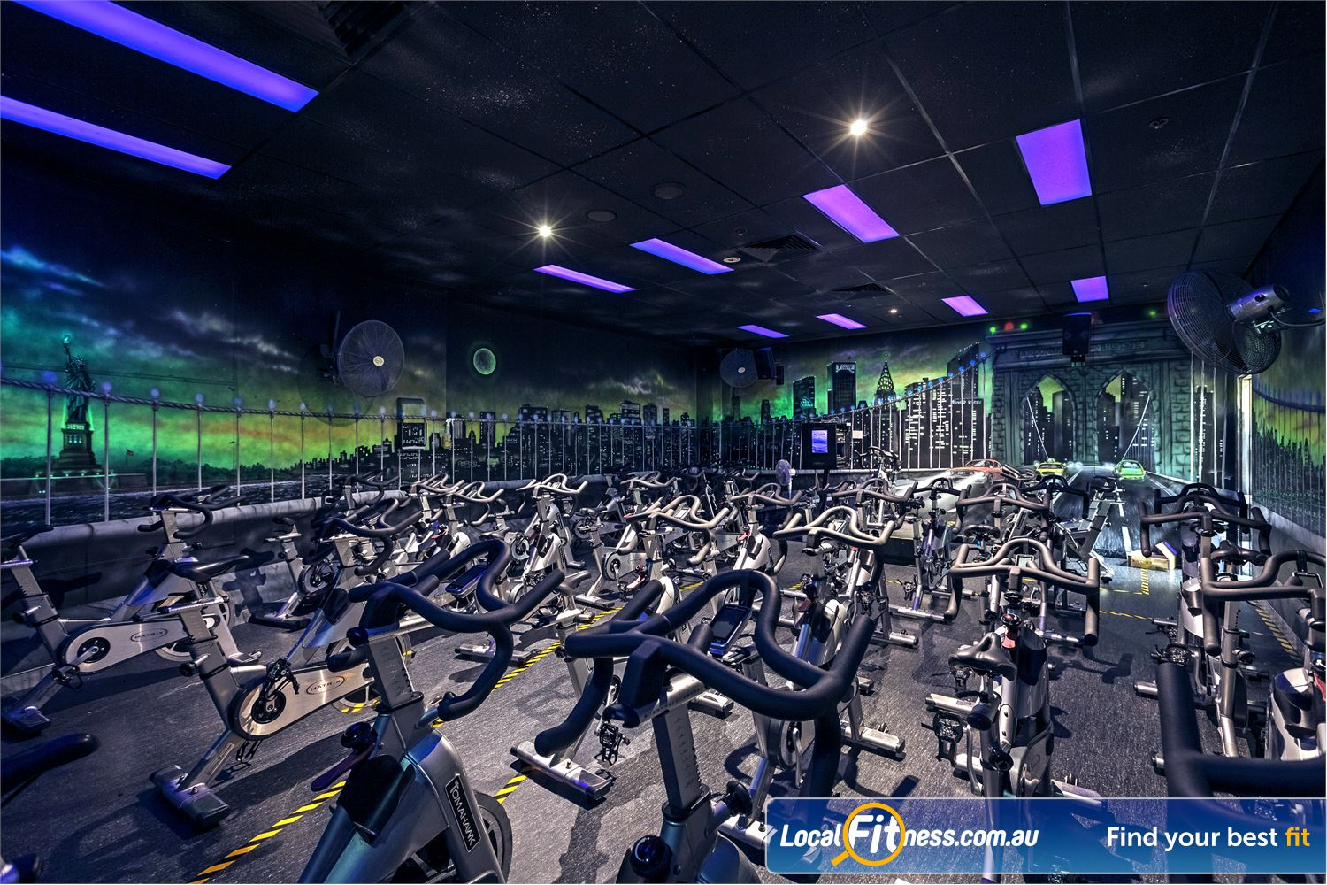 Goodlife Health Clubs Near Coombabah Dedicated Helensvale spin cycle studio.