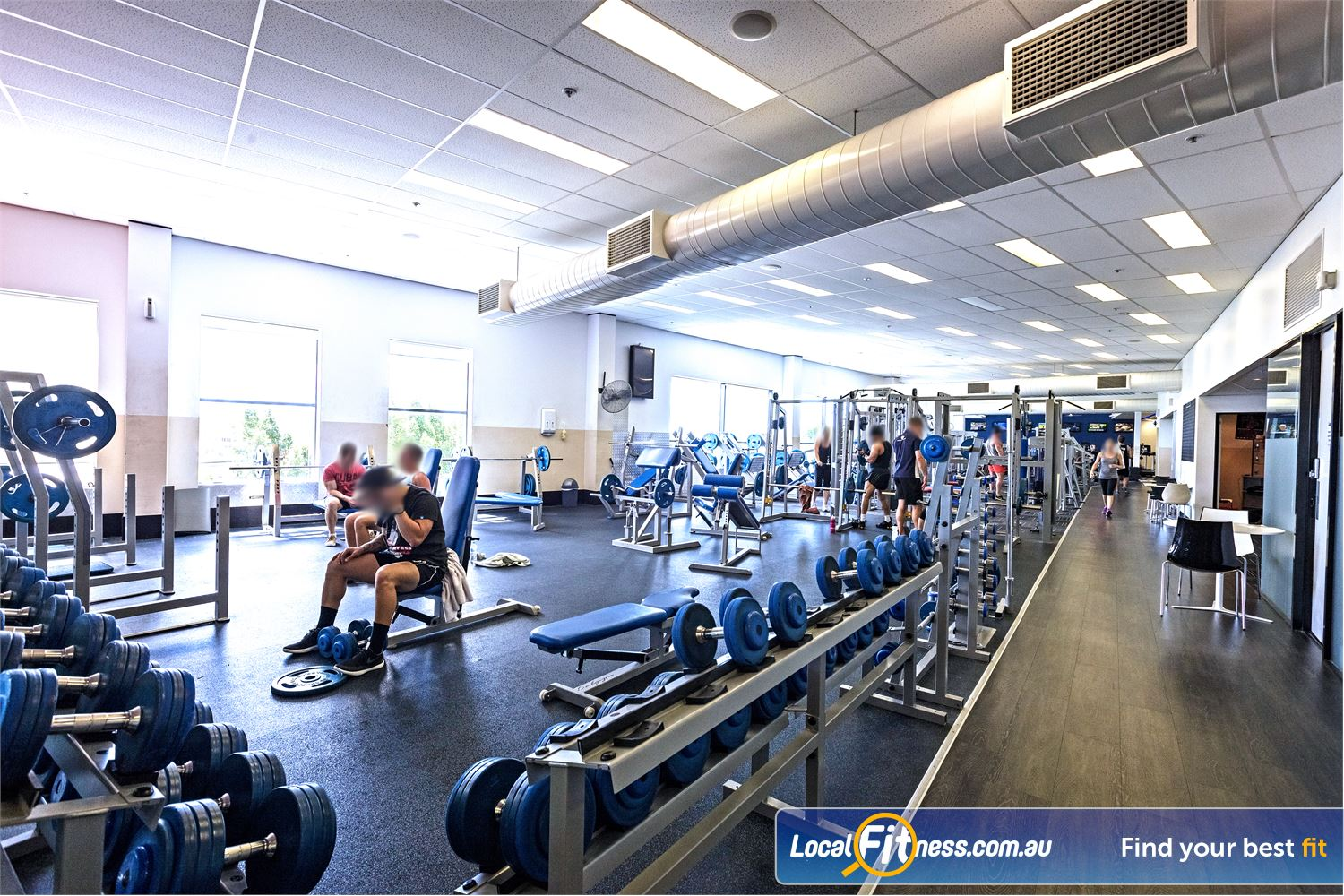 Goodlife Health Clubs Helensvale Our Helensvale gym includes a comprehensive range of free-weights.