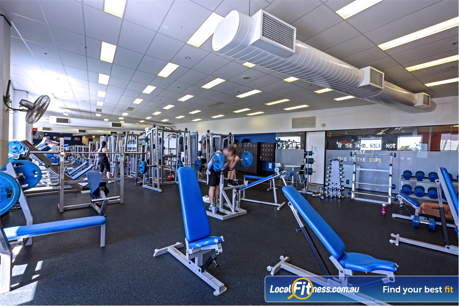 Goodlife Health Clubs Near Sanctuary Cove At our Helensvale gym, pick from a large selection of free-weights.