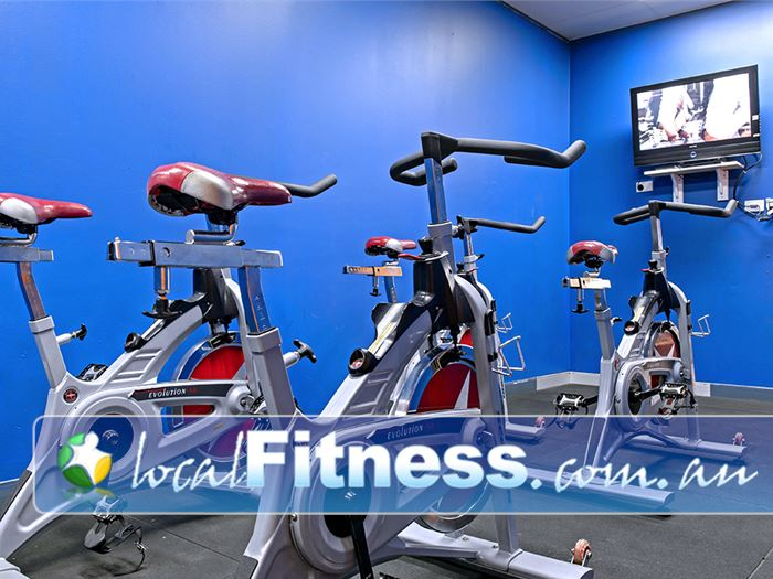 Plus Fitness Health Clubs Near Elderslie Virtual spin cycle studio with classes-on-demand.
