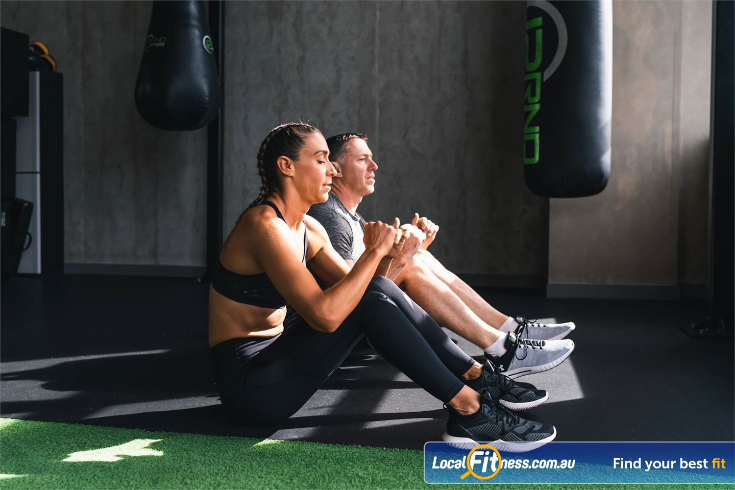 12 Round Fitness Camberwell Work your abs and core in our Camberwell boxing circuit.