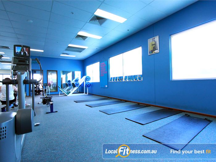 Fernwood Fitness Gym Harrison  | Dedicated ab and stretching zone.