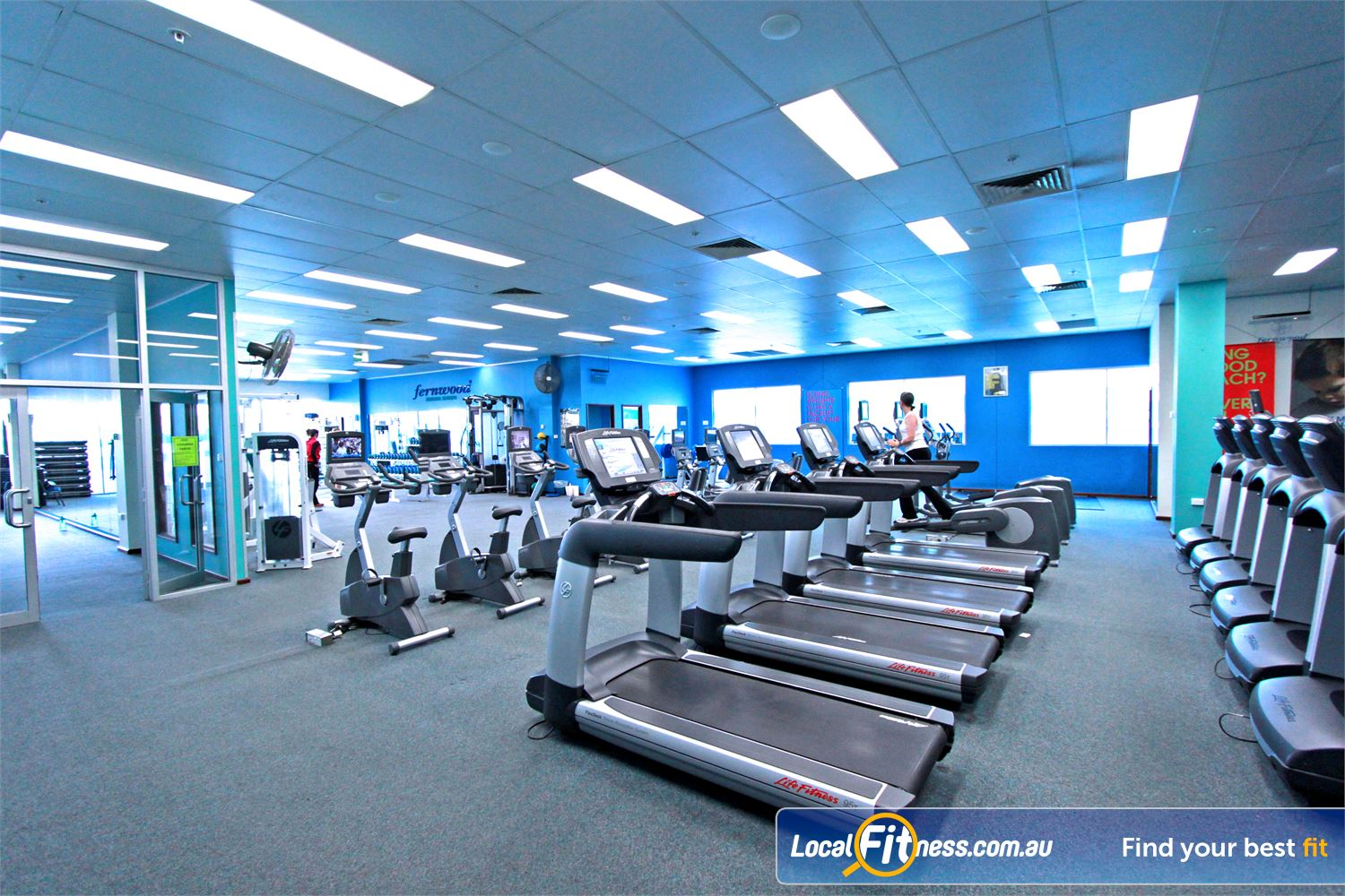 Fernwood Fitness Near Amaroo Enjoy the wide selection of cardio at Fernwood Gungahlin gym.