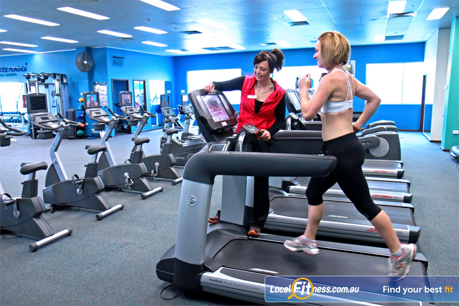 Fernwood Fitness Near Franklin Luxury training with personal entertainment units on each machine.
