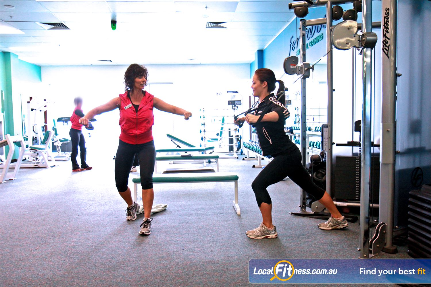 Fernwood Fitness Near Palmerston Member Motivators are always on the floor to help you at Fernwood Gungahlin gym.