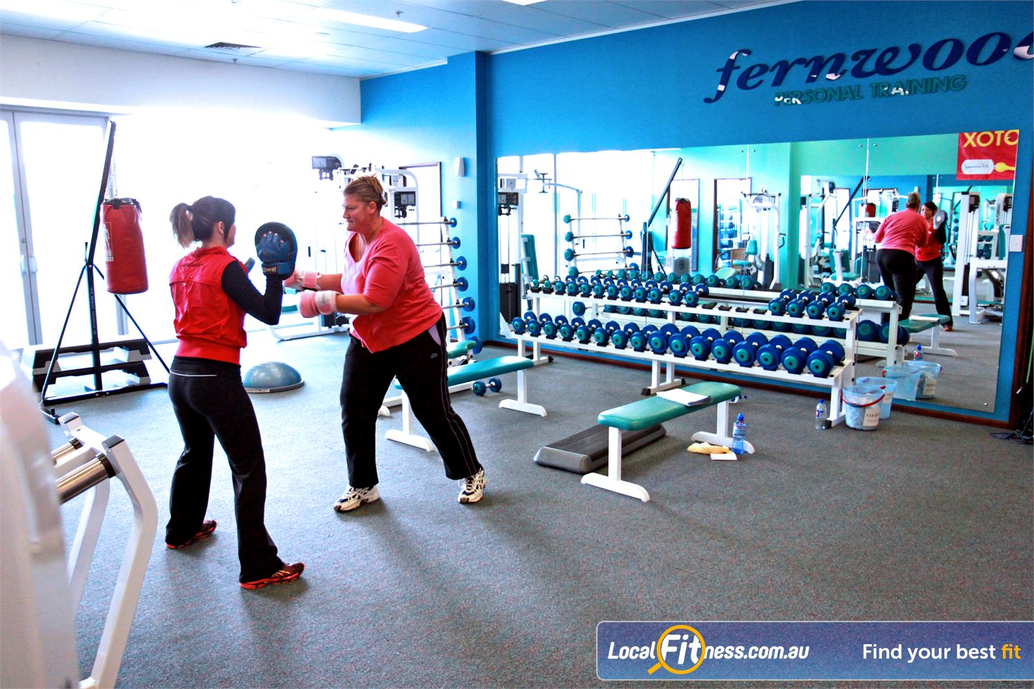 Fernwood Fitness Gungahlin Fernwood Gungahlin gym instructors can incorporate cardio boxing into your weight loss program.