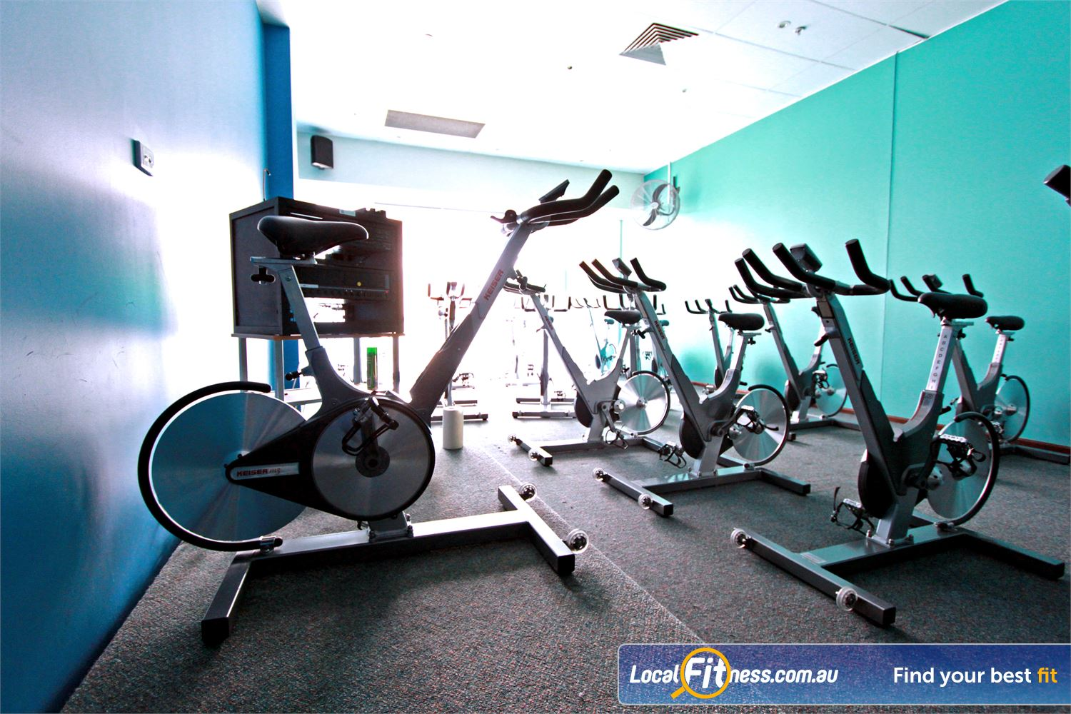Fernwood Fitness Near Palmerston Dedicated spin cycle studio in Gungahlin.