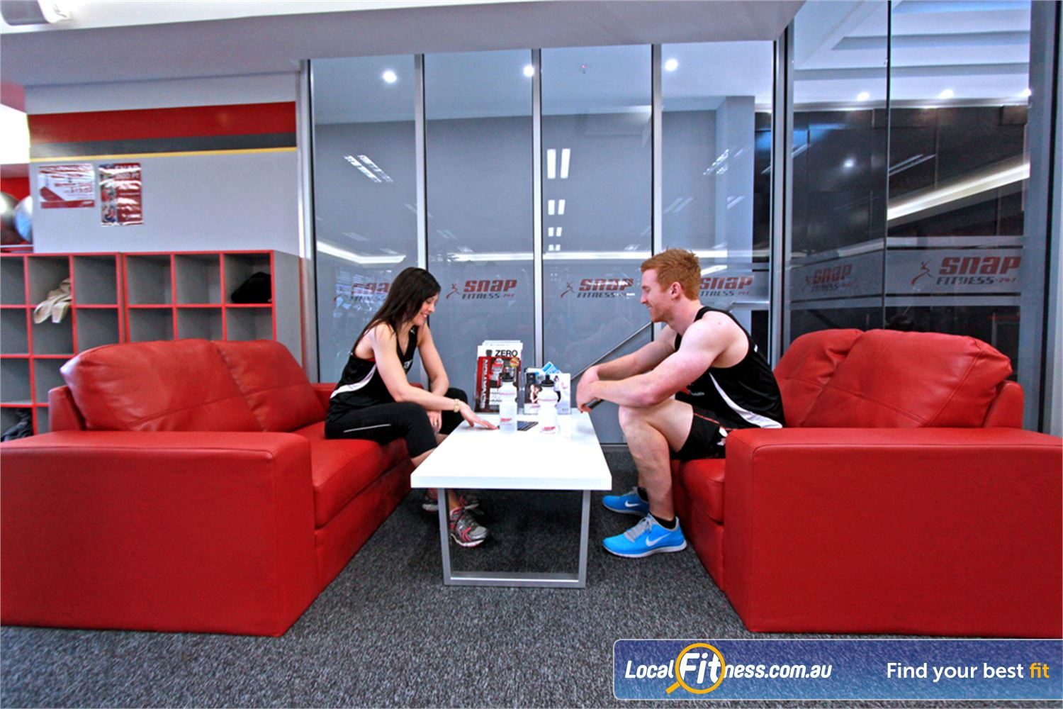 Snap Fitness Near Kilsyth Enjoy 24 hour comfort in our members lounge.