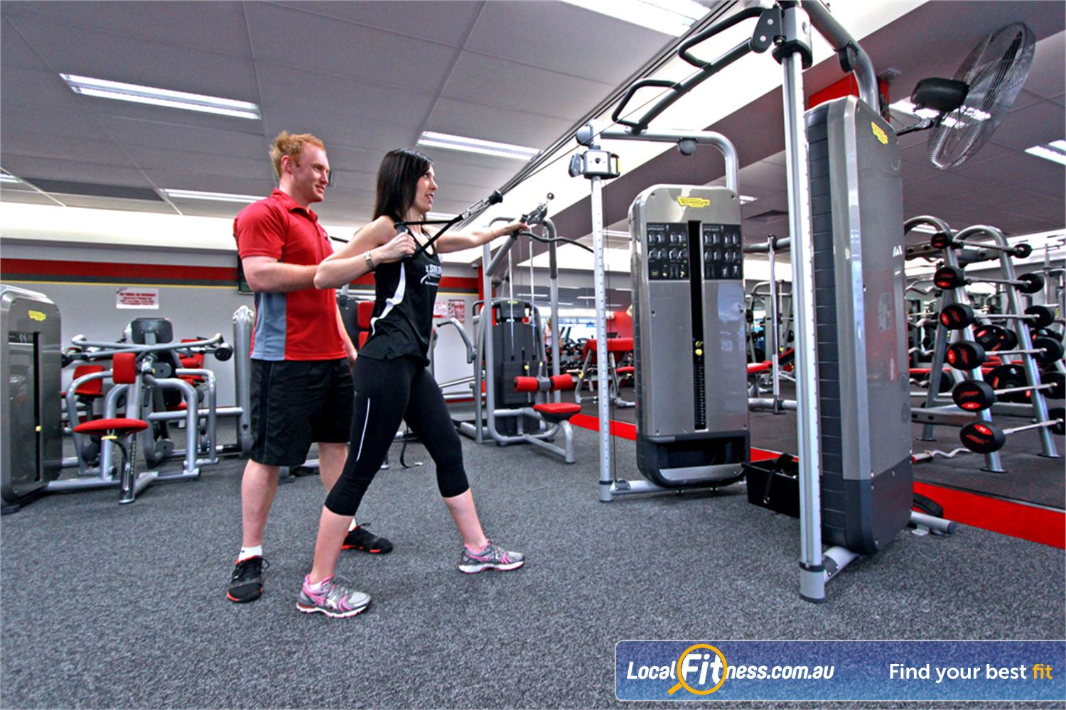 Snap Fitness Croydon Croydon personal trainers can tailor a strength program to suit you.