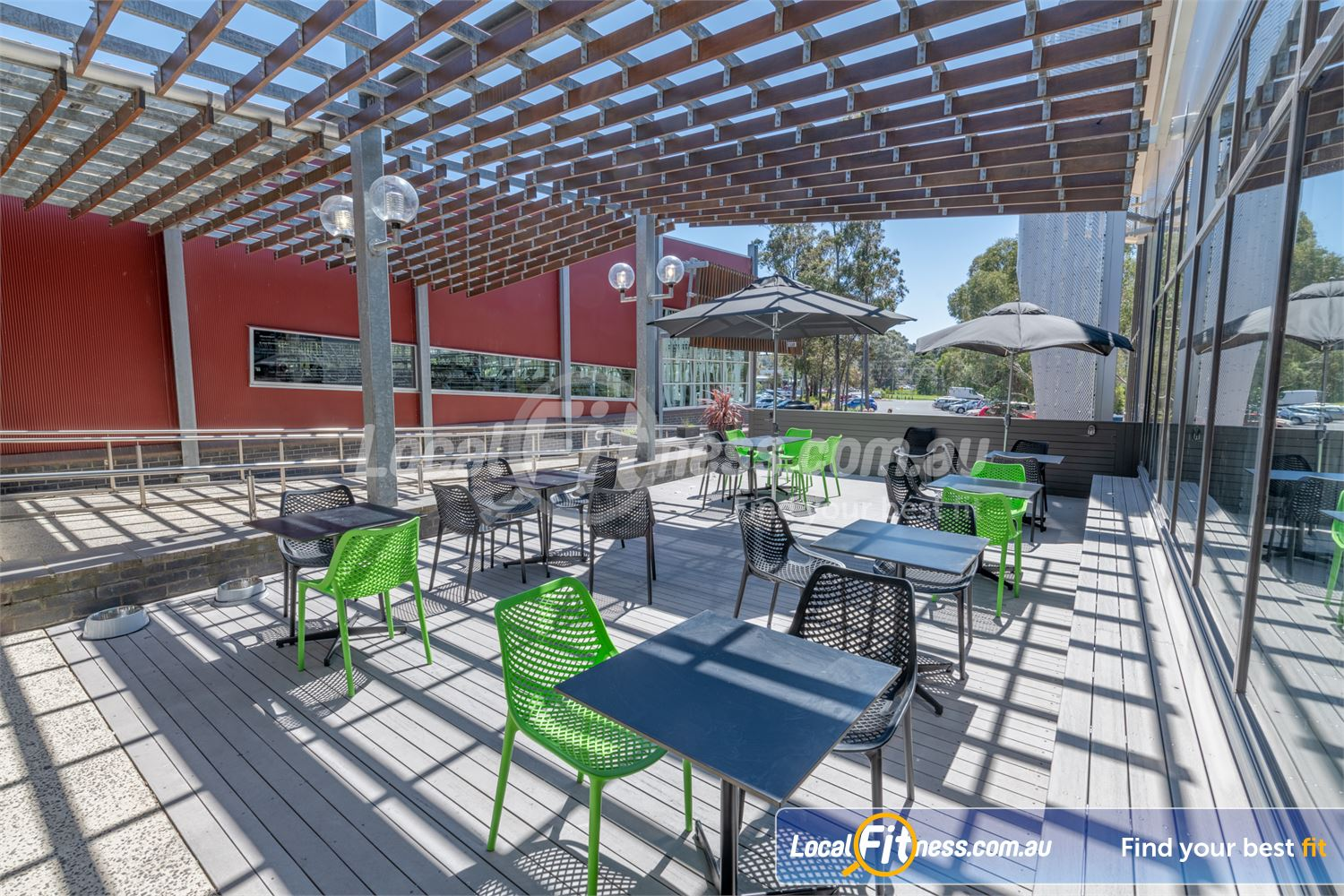 Eltham Leisure Centre Eltham The outdoor members lounge area is the perfect place to be on a sunny day.