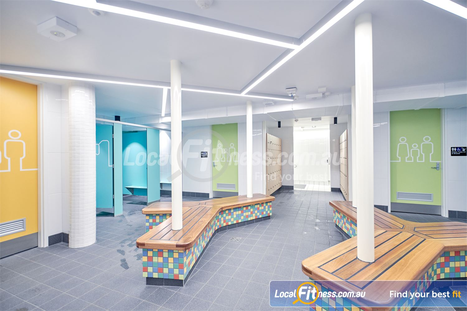 Eltham Leisure Centre Near North Warrandyte Family change village and dedicated change spaces for schools and groups.