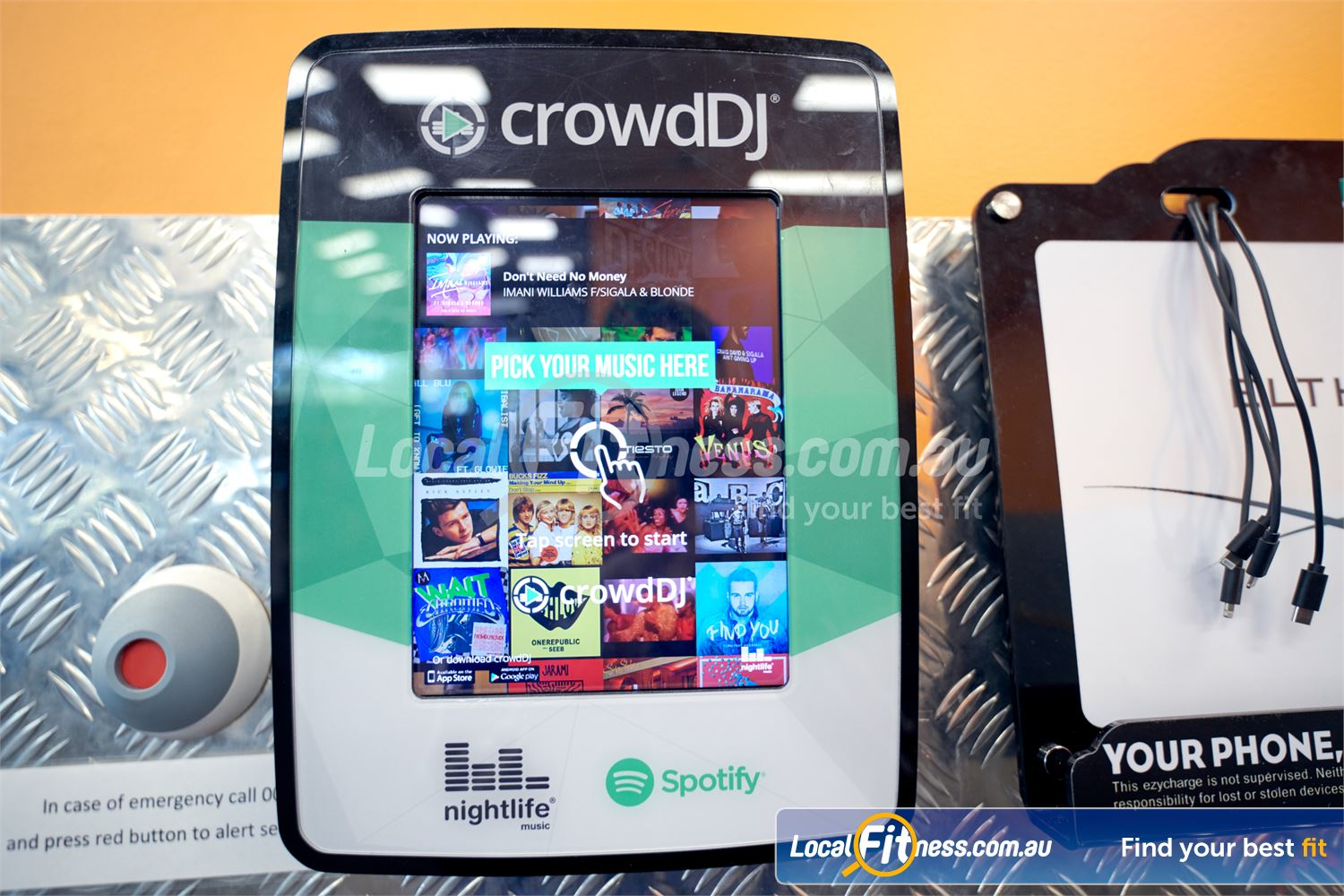 Eltham Leisure Centre Near Templestowe Choose your favourite tunes while you tune with the crowdDJ tech.