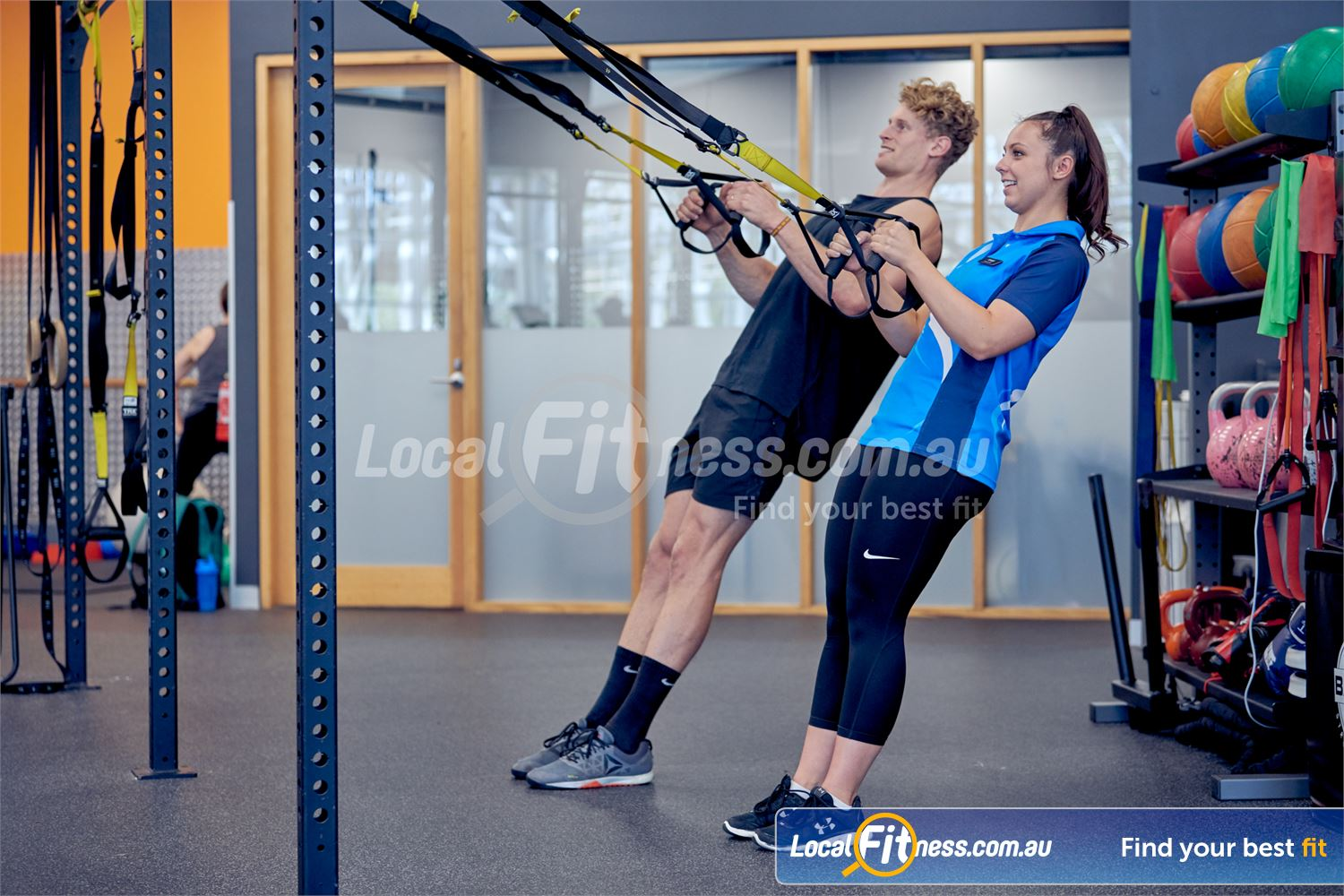 Eltham Leisure Centre Near North Warrandyte Work your core and your stabilizers with TRX training in Eltham.