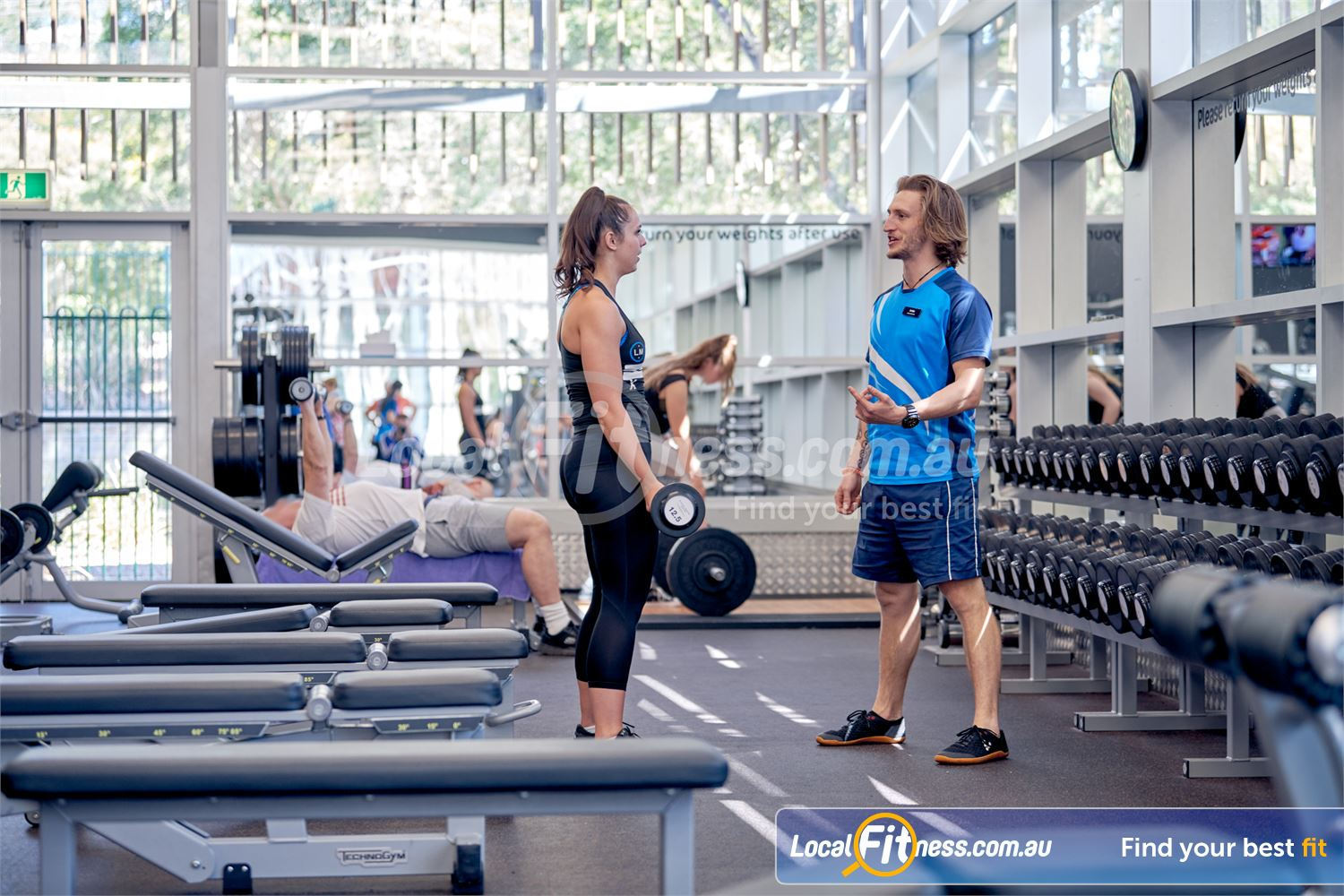 Eltham Leisure Centre Eltham Our Eltham gym includes a fully equipped free-weights area.