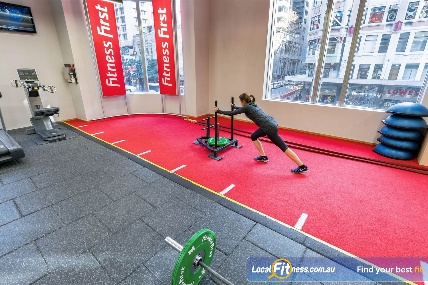 Fitness First Platinum Park St Near Alexandria Mc Get a functional cardio workout with our sled track and battle ropes.