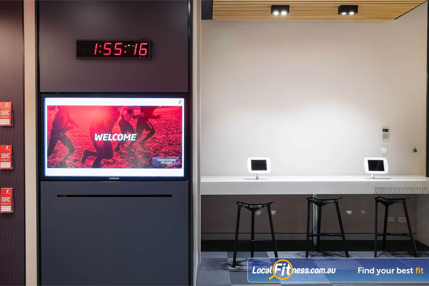 Fitness First Platinum Park St Sydney The iPad bar with WiFI in our members lounge.