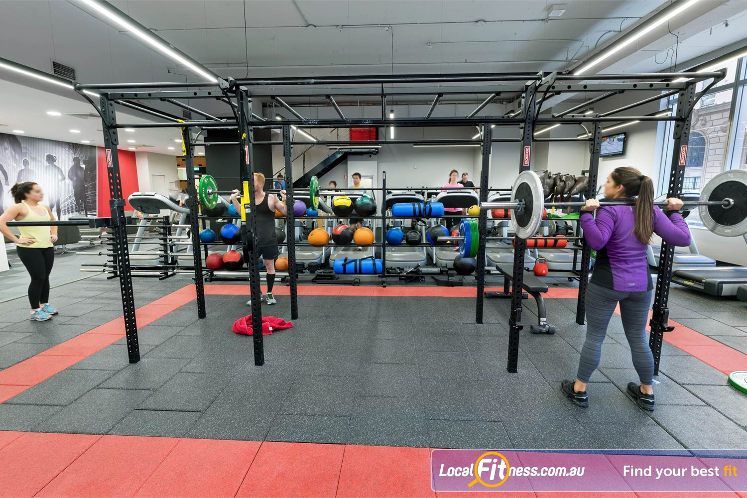 Fitness First Platinum Park St Near World Square Our Sydney gym includes a high performance strength matrix.