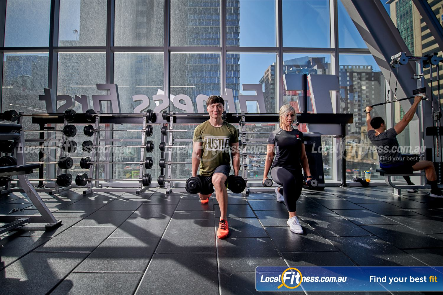 Fitness First QV Platinum Near South Melbourne Our Melbourne gym team can show you the benefits of free-weights.