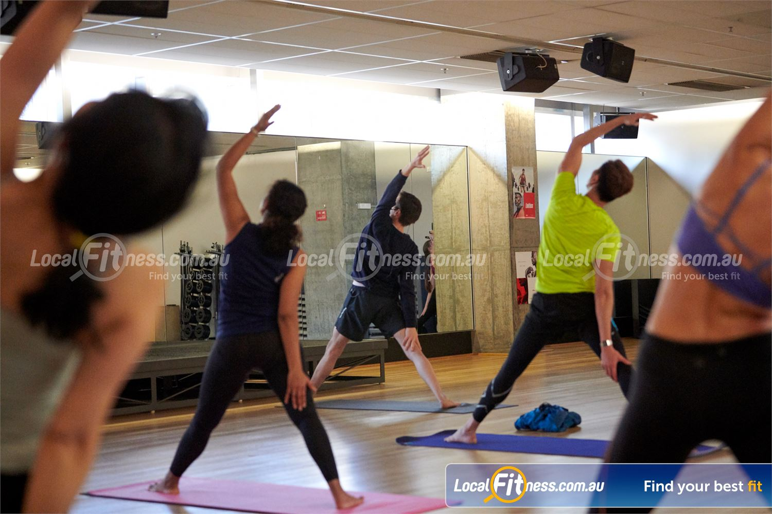 Fitness First QV Platinum Melbourne Popular classes inc. Melbourne Yoga and Pilates.