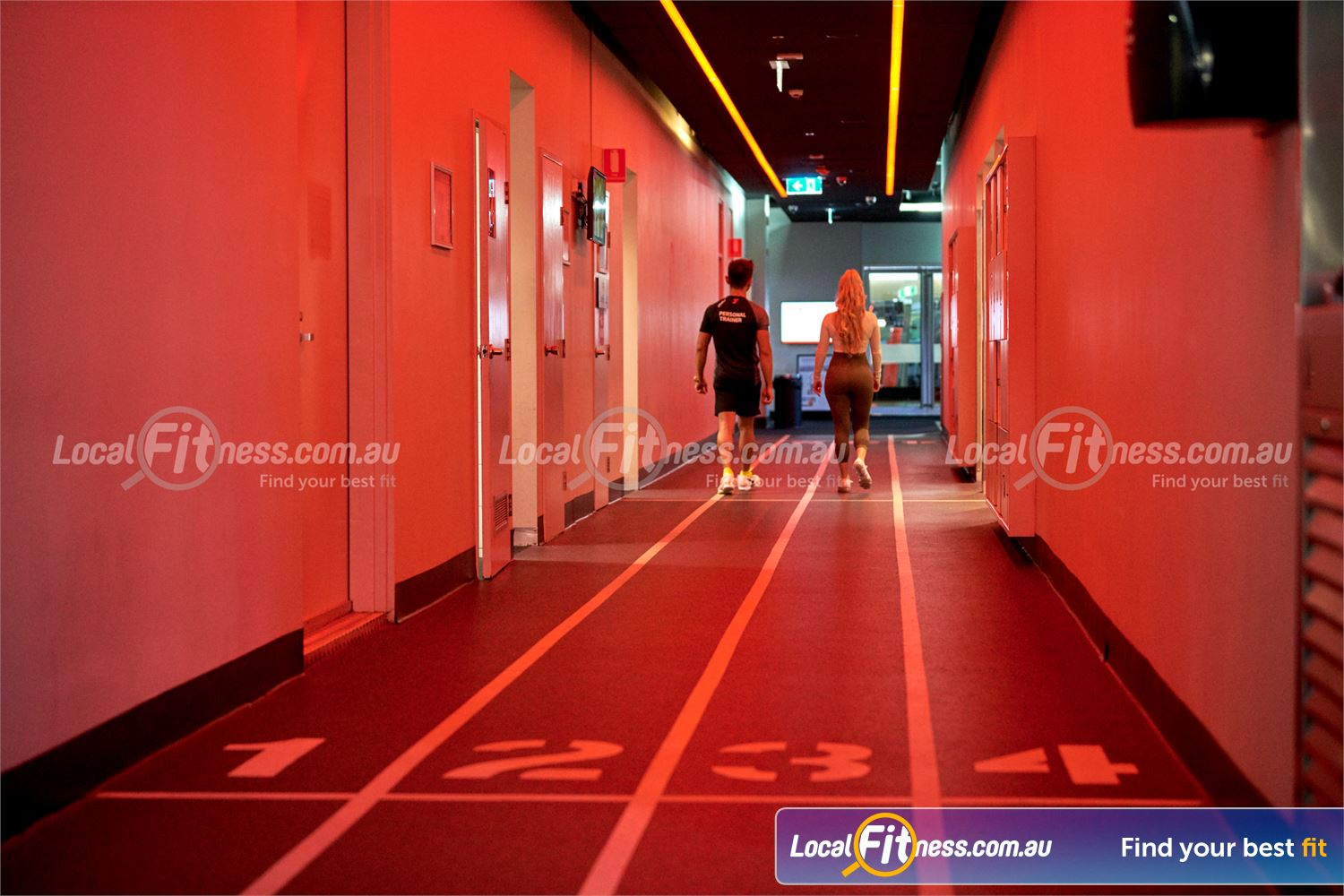 Fitness First QV Platinum Melbourne Our indoor running track at Fitness First QV.