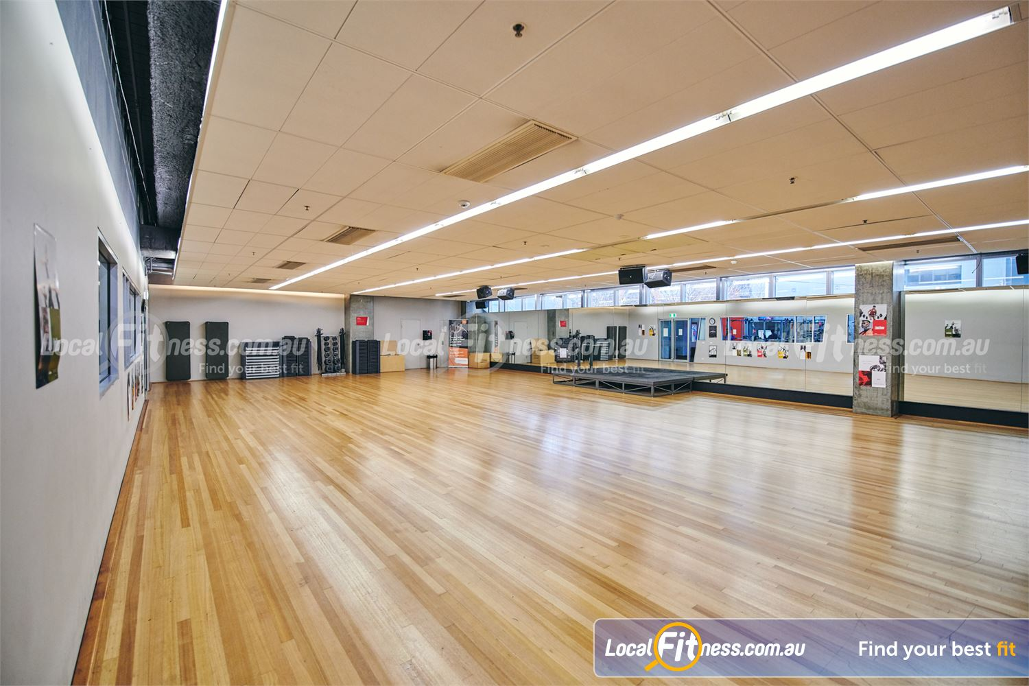 Fitness First QV Platinum Near South Melbourne The dedicated Melbourne group fitness studio with stage flooring.<br />