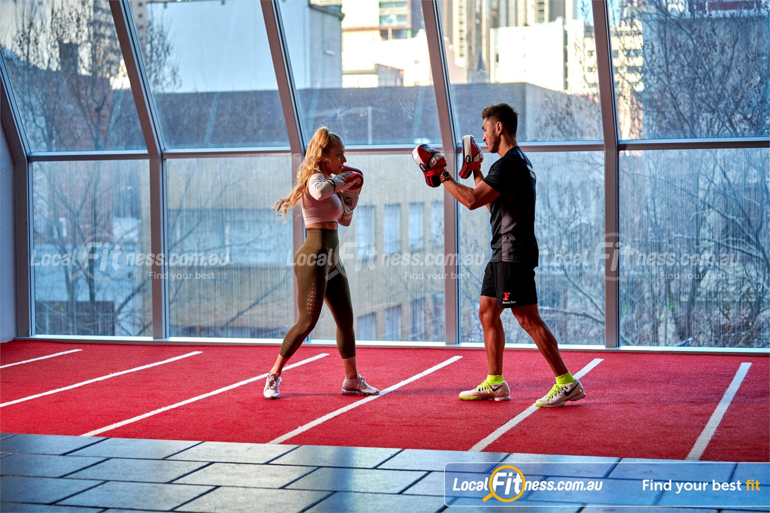 Fitness First QV Platinum Near Southbank Stunning views of the Melbourne city streets from our QV Melbourne gym.