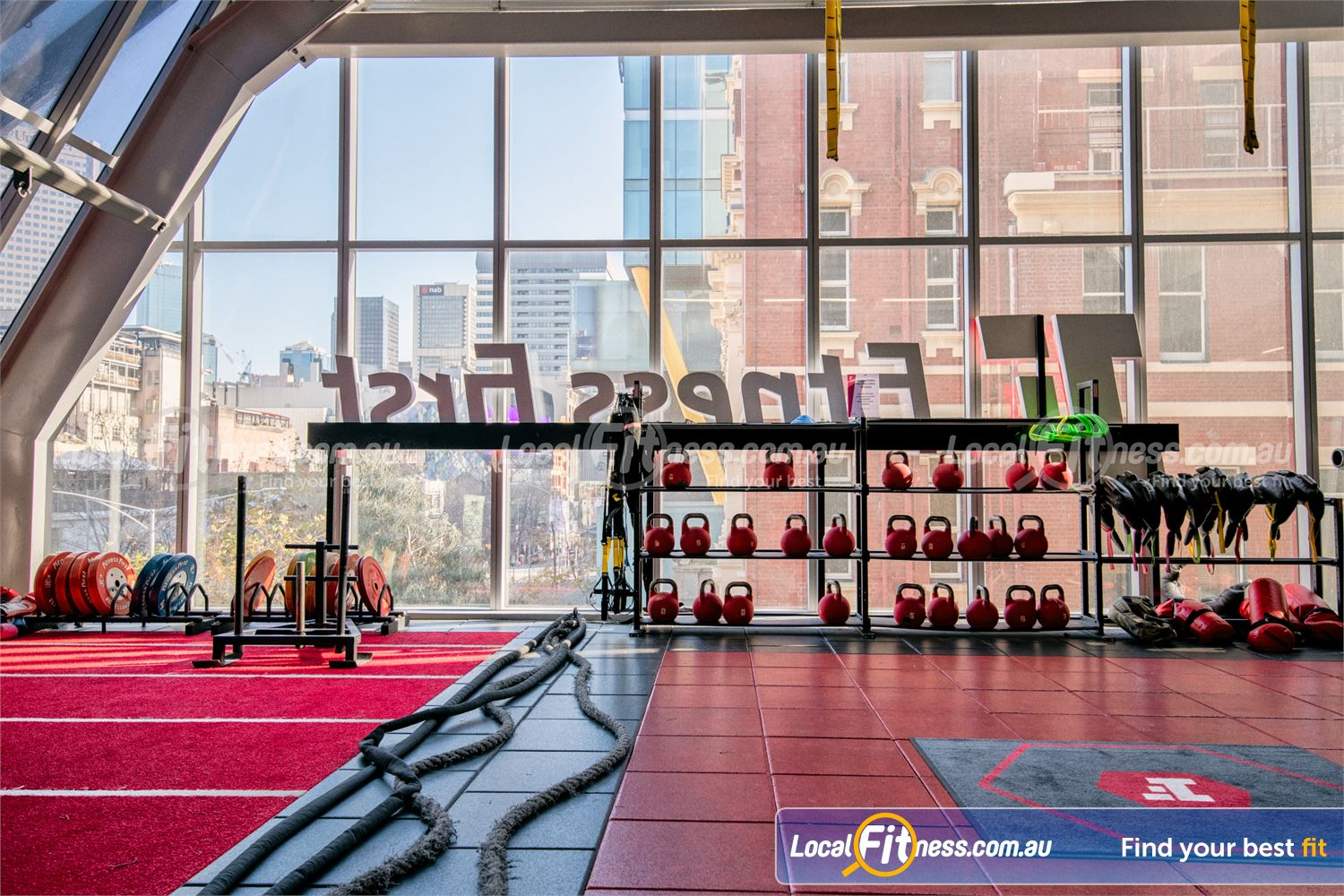 Fitness First QV Platinum Melbourne Our Melbourne HIIT gym and freestyle space.