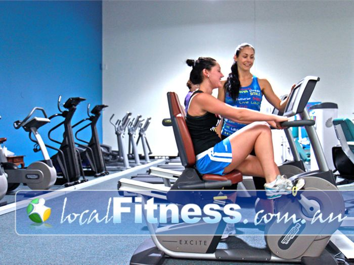 Fernwood Fitness Near Mount Ommaney Luxury training with personal entertainment units on each machine.