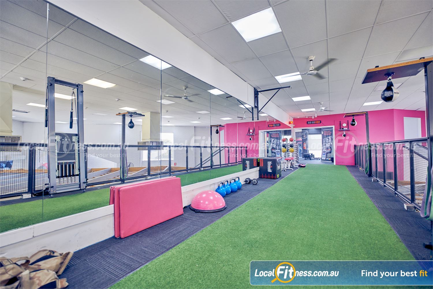 Fernwood Fitness Near Jacana The dedicated functional training area with indoor sled track.