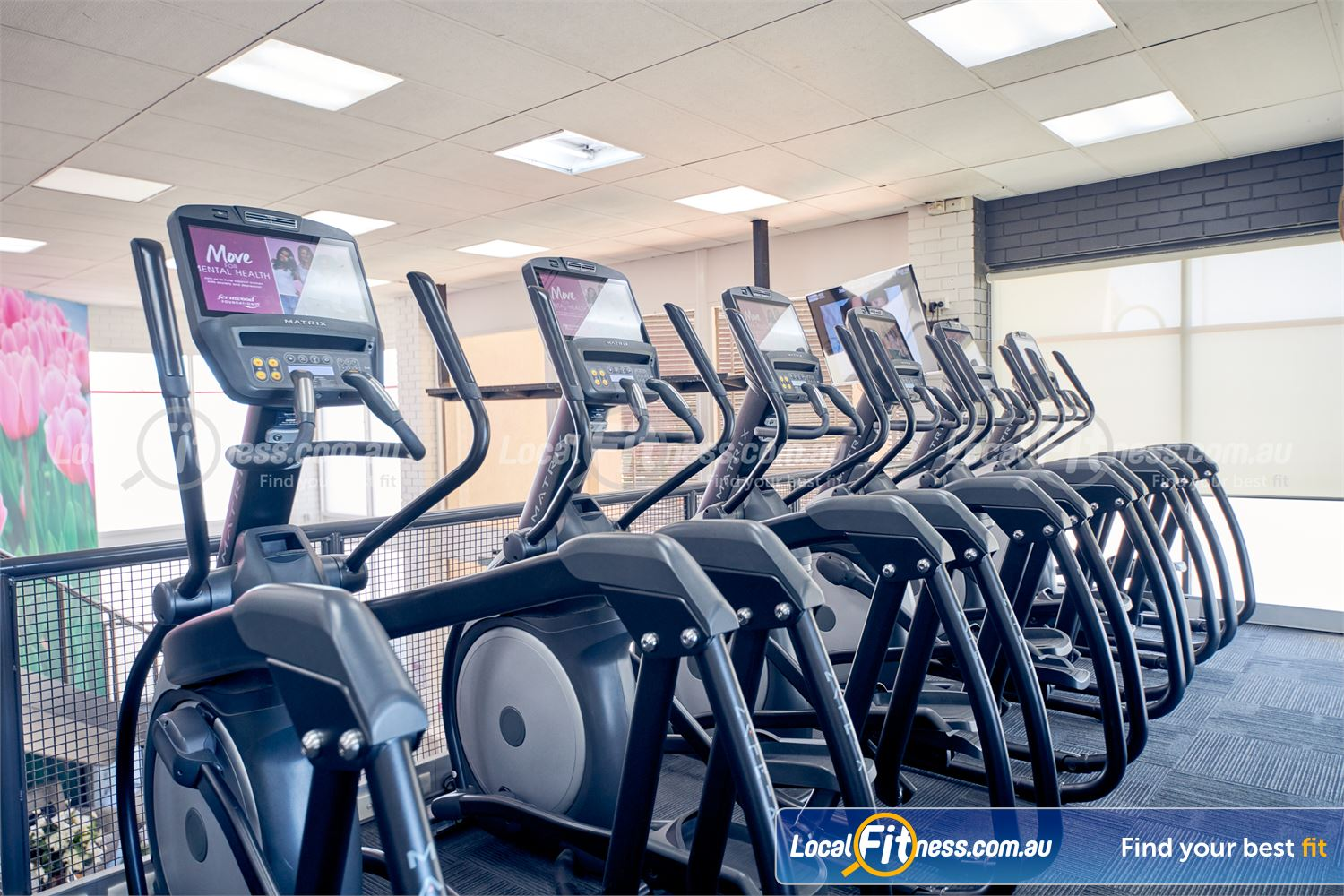 Fernwood Fitness Near Oak Park The state of the art cardio area in our Tullamarine gym.