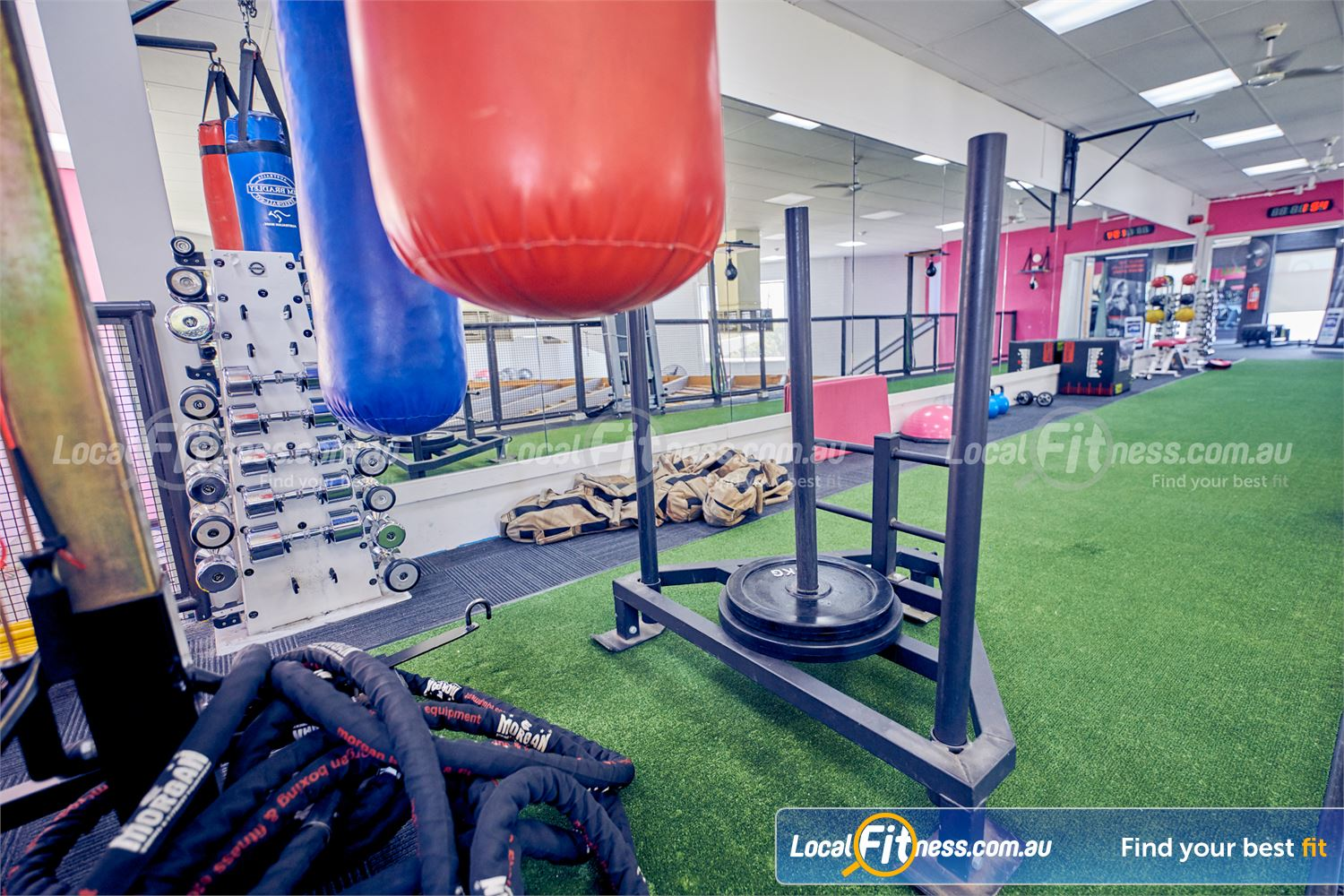 Fernwood Fitness Near Westmeadows Fully equipped functional area with battle ropes, sled, kettlebells and more.